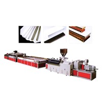 PVC wood-plastic door production line