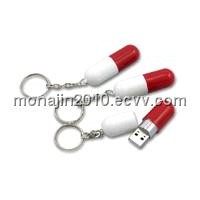 Pill USB Flash Drive with Key Chain