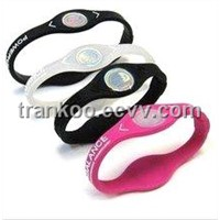 Power Silicone Wristband with Customized Logo