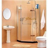 Rectangular Outside Hinge door tempered glass shower enclosure