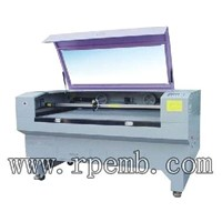 Single head embroidery laser cutting machine