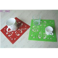 Square shape wool felt coastes, drink coaster, cup mats