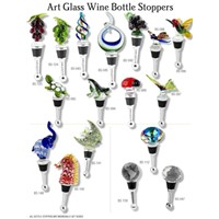 art glass wine bottle stopper