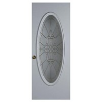 Big Oval Steel Glass Door