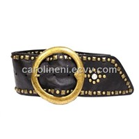 Fashionable Genuine Belt Studded with Rivets