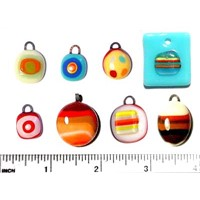 glass bead and glass pendant