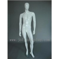 shop display fibreglass male abstract mannequins with egg head white glossy