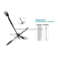 marine hardware-folding anchor