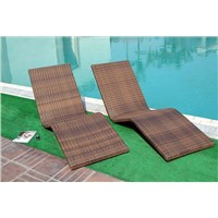Synthetic Rattan Chaise Lounge