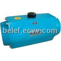 Spring return pneumatic actuator
