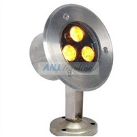 3*1w led underwater light