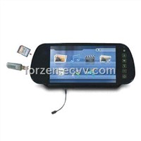 7-inch Rear View Mirror Monitor with Bluetooth 32-bit Games