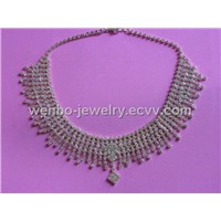Necklace Sets with Crystal Rhinestones (WBN004)