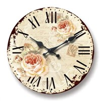 MDF Wall Clock with printed paper