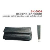 Crocodile Leather Pipe Bag Travel Set