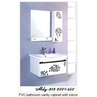 PVC Bathroom Vanity Cabinet with Mirror