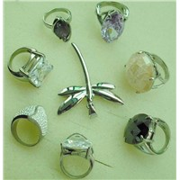 Stainless Steel Rings with CZ Stone