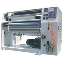 Stretch film slitter rewinder