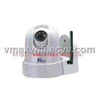 Wireless Network PTZ Camera,one way audio(external connection MIC)