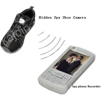 Man Shoe Spy Hidden Camera