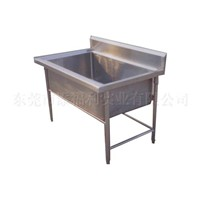 stainless steel large bowl sink table