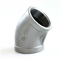 stainless steel threaded fitting elbow45