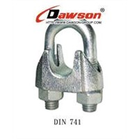 wire rope clips, wire rope clamps, Din 1142,Din741,drop forged, malleable