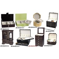 Faux leather jewelry boxes