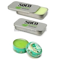 tin box with slide lid