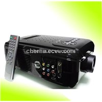 high quality video projector with HDMI and built in tv support 1080p