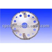 Electroplated Cutting Discs with Protective Segments