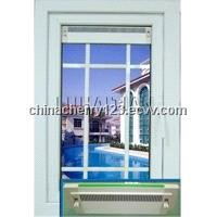 casement window with vent