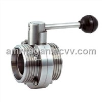 Sanitary Grade Screwed Butterfly Valve