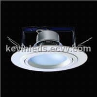 1x 10 W Comfortable Flat Glass LED Downlight