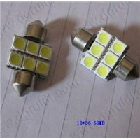 36mm 6smd License Plate Light