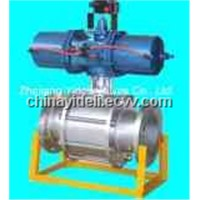 3-PC Pneumatic Actuated Ball Valve (Q641F)