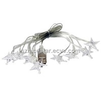 LED Light Chain with Star