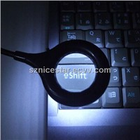 Round LED Computer Light with Magnifier