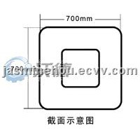 Square Aluminum-alloy fuel tank for truck