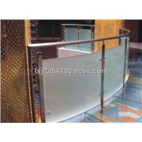 Stainless shopping malls rails,steel glass handrails