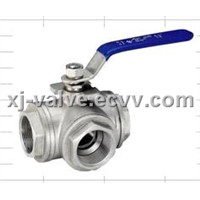 Threaded End Three-Way Ball Valve