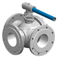 Three-Way Flanged Ball Valves