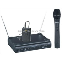 VHF Small Size Two Channel Wireless Microphone (SM-208)