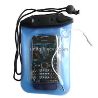 Inflatable PVC Waterproof Pouch for Blackberry Phone