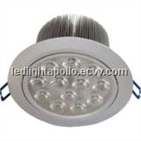 12*1w led downlight/ceilling light recessed mounted CREE or EDISON light source apollo AP-D1015