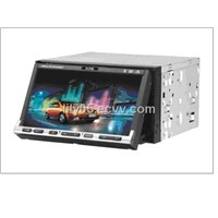 2-din DVD with 7 inch touch screen TFT LCD car DVD model:SN-702