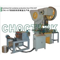 Aluminum foil food container machine CTAC-63T