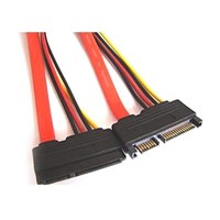 Green Connection 15+7 Pin SATA Serial ATA Male to Female Power Cable