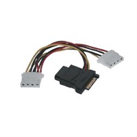 Power SATA 15-Pin to Molex 4-Pin Adapter