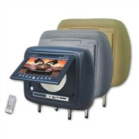 Headrest DVD Player with IR Remote Control, Zip-Off Cover and Dual Speakers